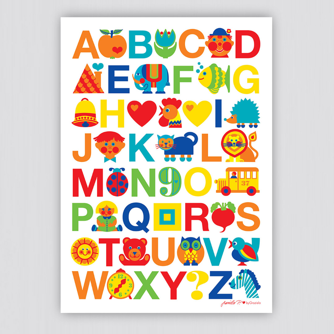 BY GRAZIELA Kinder ABC Poster cm