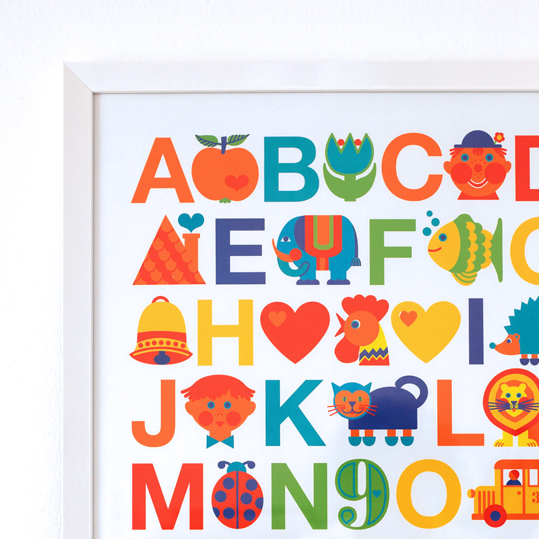 BY GRAZIELA Kinder ABC Poster 50 x 70 cm