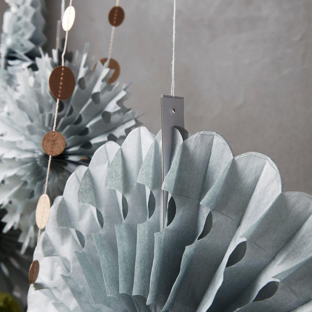HOUSE DOCTOR Ornament, Cut, grau Dm: 30 cm