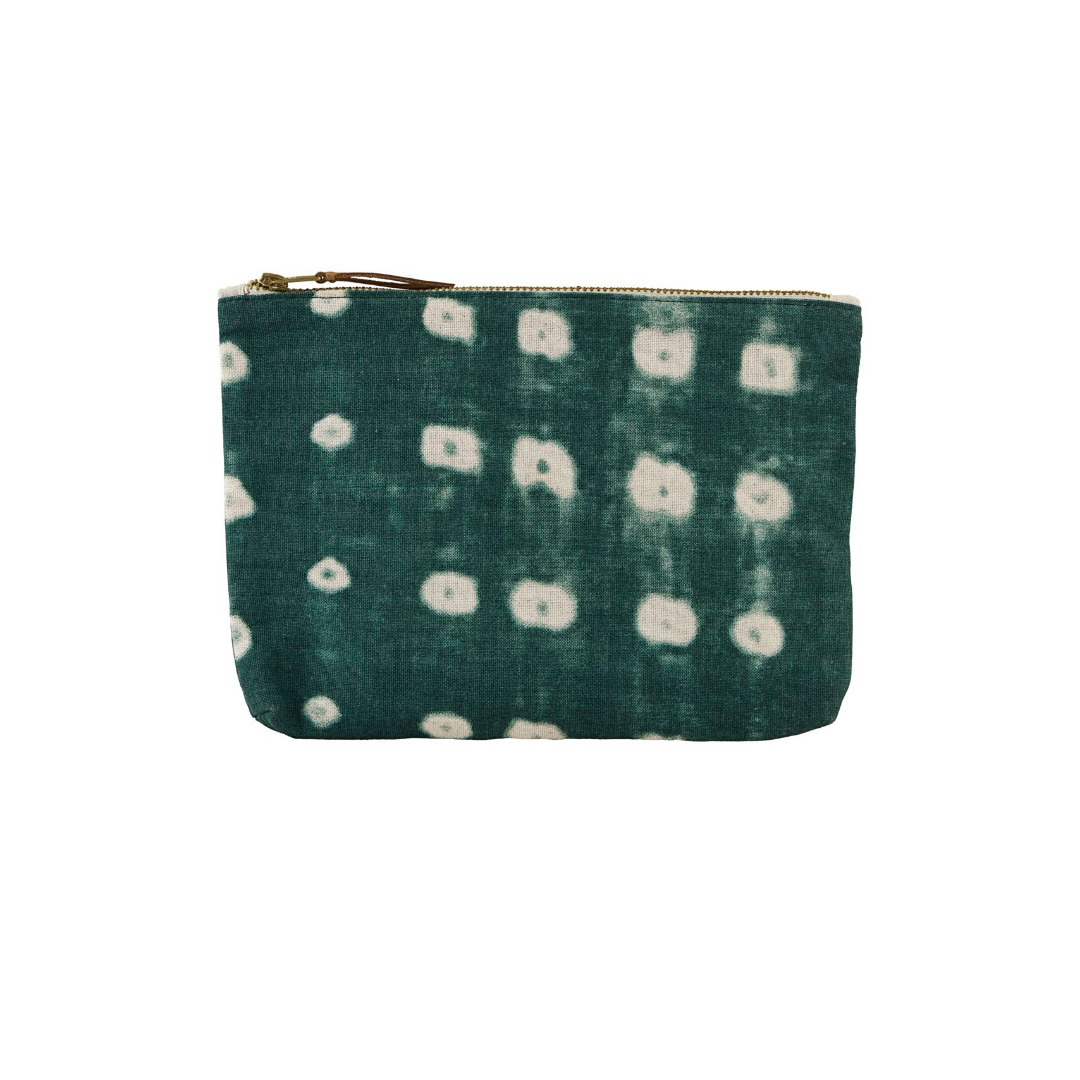 HOUSE DOCTOR Cosmetic bag, Dots, green 23x16 cm - 1