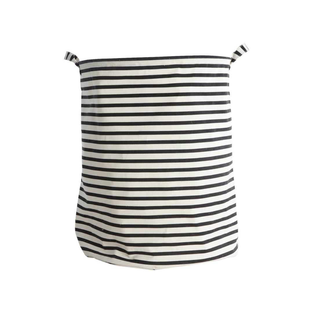 HOUSE DOCTOR Laundry bag Stripes Schwarz