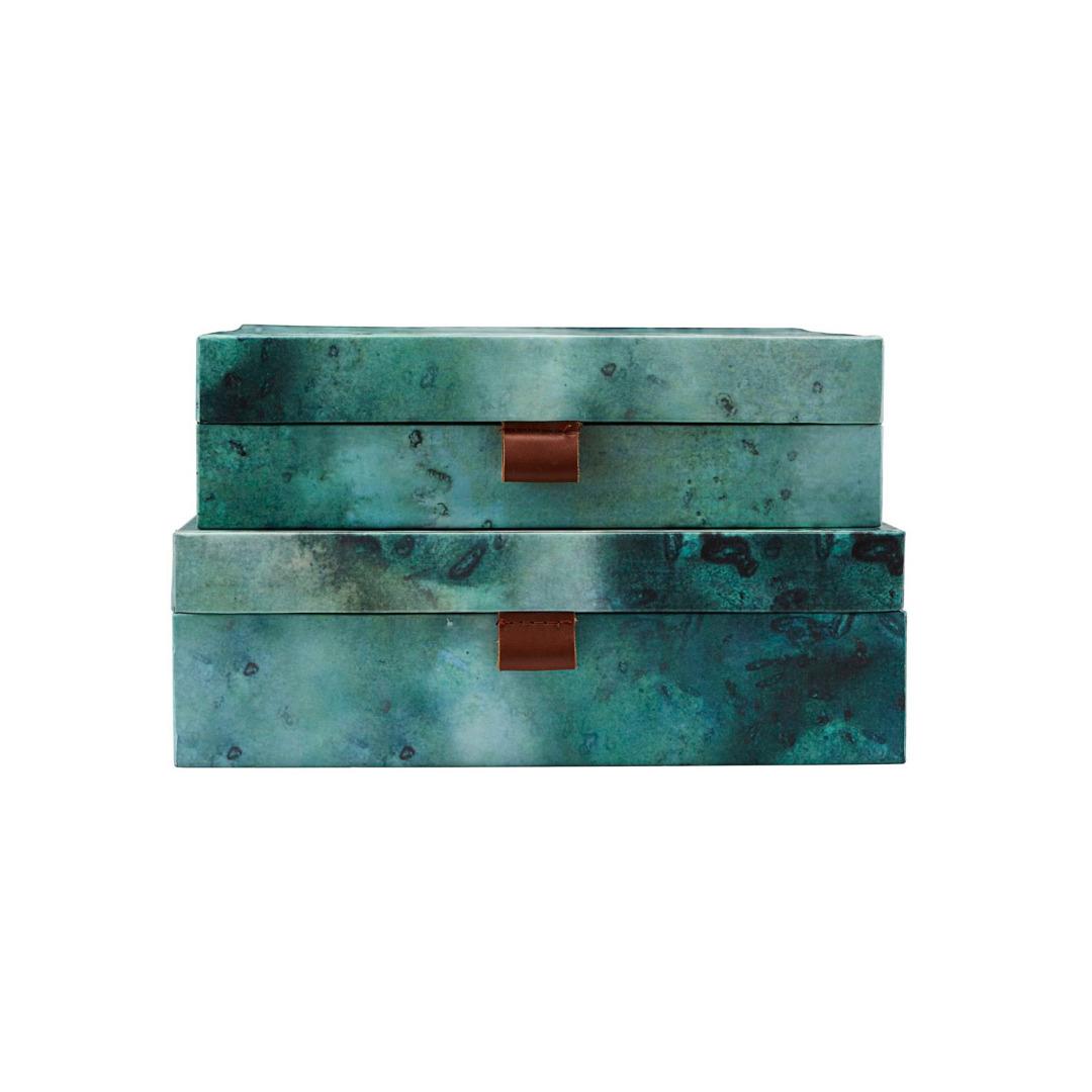 HOUSE DOCTOR Aufbewahrung Schachteln quer, Earth 2er Set