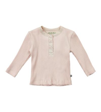 MINYMO l/s Shirt rosa mit Knopfleiste