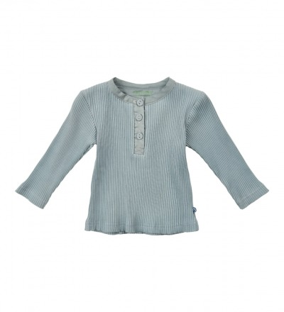 MINYMO l/s Shirt hellblau mit Knopfleiste