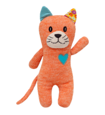 HICKUPS Strick-Katze orange