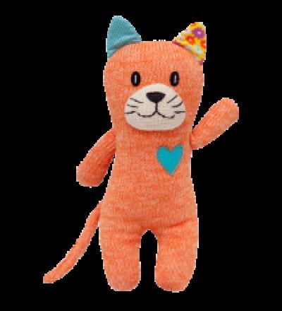 HICKUPS Strick-Katze orange 30 cm
