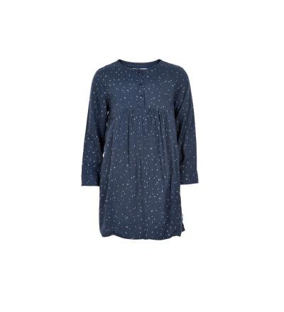 MINYMO Olena Dress Zauberhaftes Kleid Blau mit Punkte weis