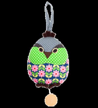 HICKUPS Spieluhr Vogel klein Gruenfink