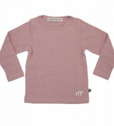 MINYMO Basic-Shirt langarm rosa