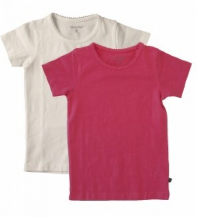 MINYMO T-Shirt Basic pink 2er Pack