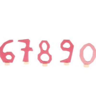 GRIMM S Stecker-Set 6-0 rosa Geburtstagsdeko