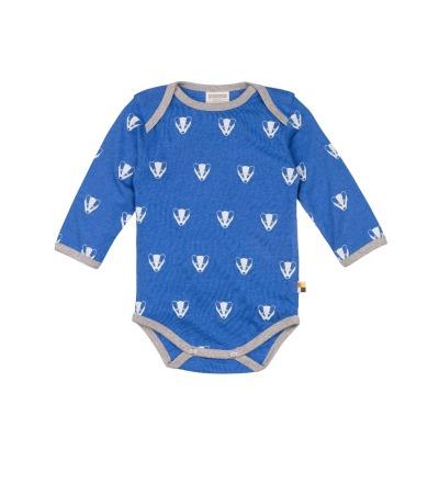 LOUD PROUD Baby Langarm-Body Dachse pazific BIO Baumwolle kbA/ Wolle kbT