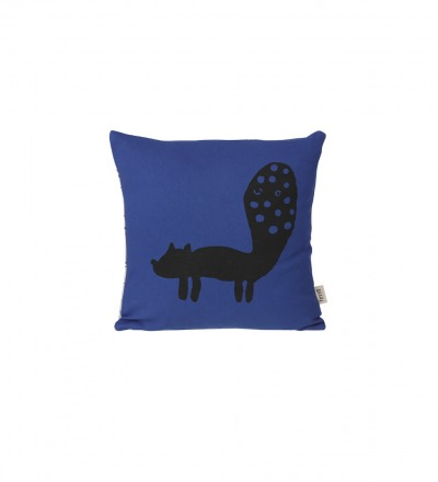 FERM LIVING Fox Cushion - blue Kissen Fuchs 30 x 30