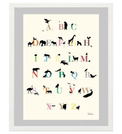 ENGELWERK ABC Poster Tiere 50 x