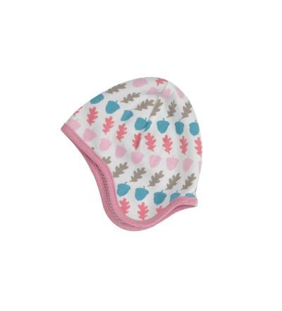 PIGEON Babymütze Wendemütze Eicheln rosa Bio