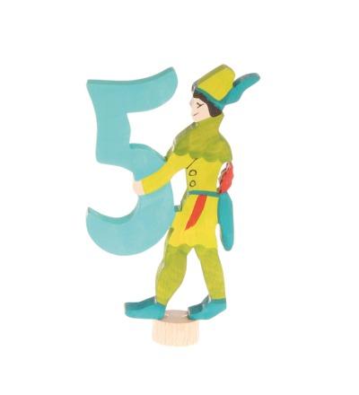 GRIMMS Stecker Märchen-5 Robin Hood handbemalt