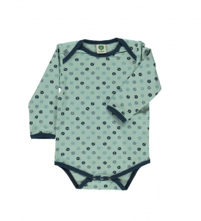 Smafolk Baby Langarm Body mini Aepfel Ether