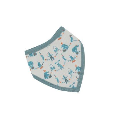 PIGEON Babyhalstuch Wendehalstuch BIO Baumwolle Zirkus blau Lätzchen