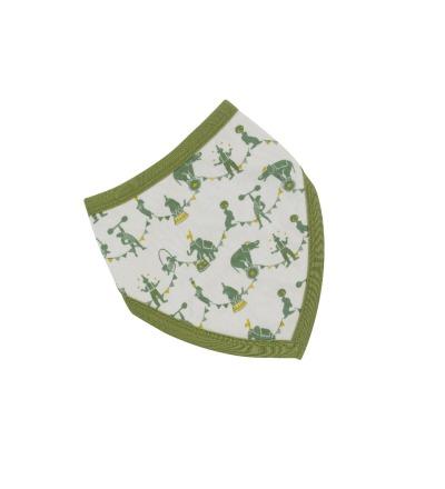 PIGEON Babyhalstuch Wendehalstuch BIO Baumwolle Zirkus grün Lätzchen