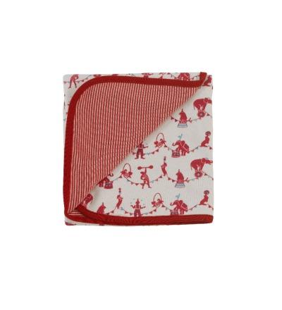 PIGEON Babydecke Wendedecke 72 x 70 cm Zirkus rot 100 Biobaumwolle
