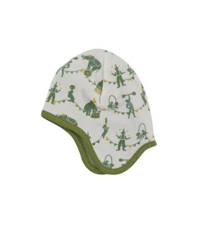 PIGEON Babymütze Wendemütze Zirkus grün Bio Baumwolle
