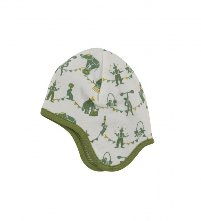 PIGEON Babymütze Wendemütze Zirkus grün Bio