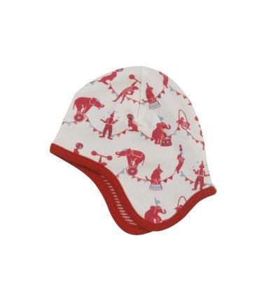 PIGEON Babymütze Wendemütze Zirkus rot Bio Baumwolle