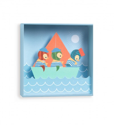 DJECO Bild Wandbild Piguine Penguin sailors