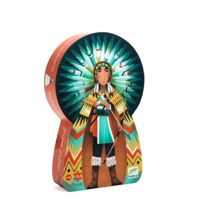DJECO Puzzle Indianer Silhouette Puzzle: Tatanka, Young Indian