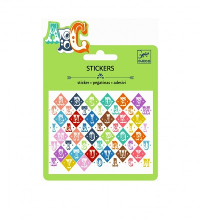 DJECO Mini Sticker: Saloon letters