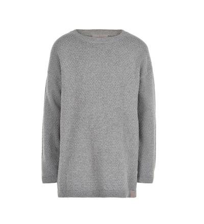 CREAMIE Oversize Kinder Pullover Jamie grau