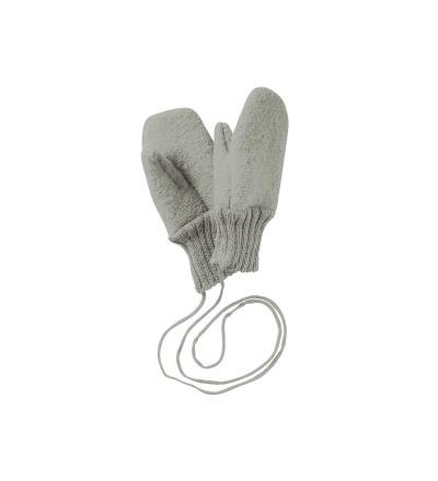 DISANA Walk Handschuhe grau Merino Schurwolle kbT - Made in Germany