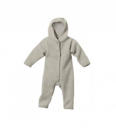 Disana Baby Walk-Overall grau Gr. 74/80 Bio-Schurwolle kbT - Made in Germany