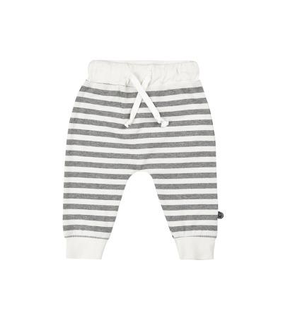 MINYMO Baby Hose Mace mit Streifen weiss/grau 100 Bio-Baumwolle