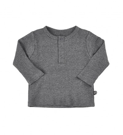 MINYMO Mace Baby langarm Shirt grau