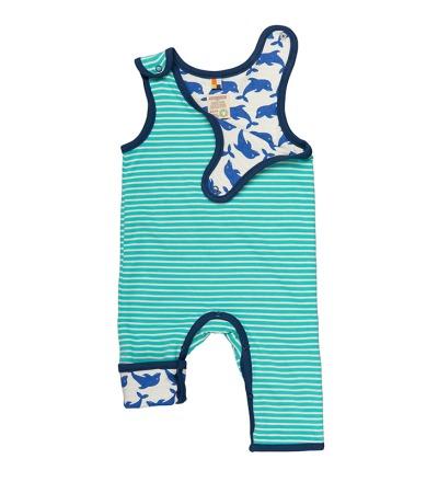 LOUD PROUD Babystrampler Wendestrampler Ringel smaragd BIO Baumwolle kbA - 100 Baumwolle kbA