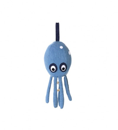 Ferm Living Octopus Music Mobile Denim
