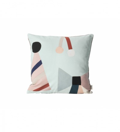 FERM LIVING Party Cushion - Mint Party Kissen Schleifenmotiven Mint 40 x 40