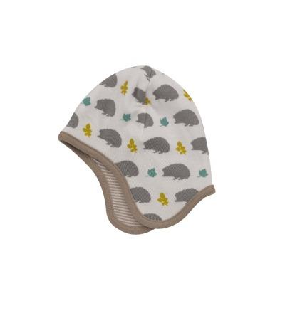 PIGEON Babymütze Wendemütze Igel grau Bio