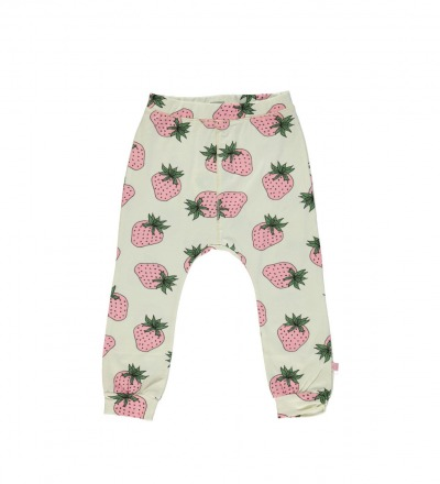 SMAFOLK Kinder Hose Pants Strawberry Cream Erdbeere print