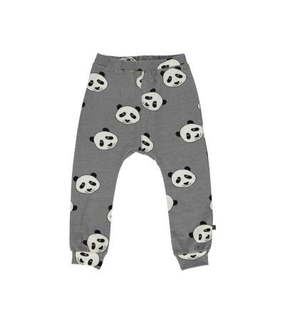 SMAFOLK Kinder Hose Pants Panda Gesicht Wilde Dove