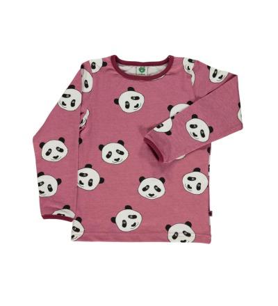 SMAFOLK Kinder Langarm Shirt Panda Gesicht Mesa Rose