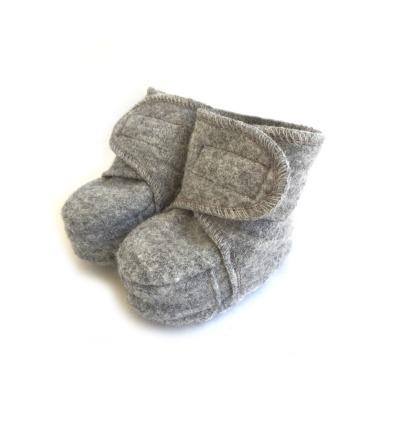 DISANA Walk-Babyschuhe grau 100 Schurwolle kbT - Made in Germany