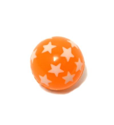 Flummi orange mit Sternen