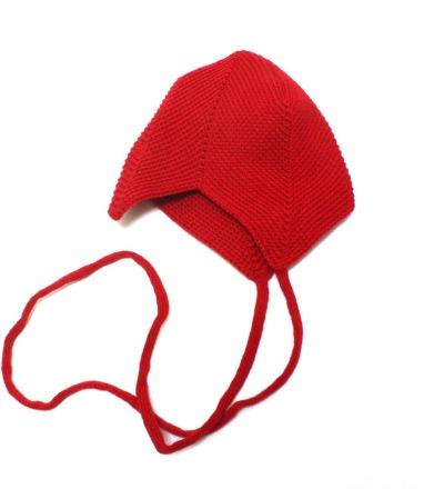REIFF STRICK Baby Mütze Teufelsmütze burgund