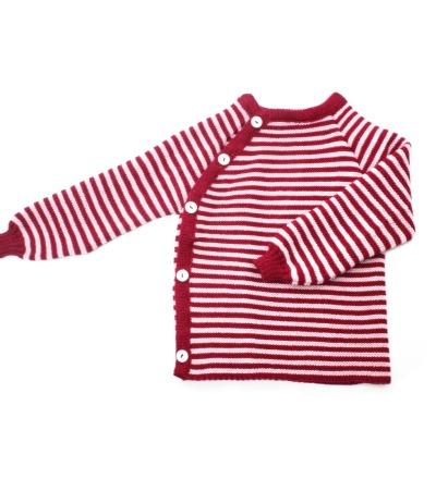 REIFF STRICK Baby Pullover Schlüttli beere/rosa
