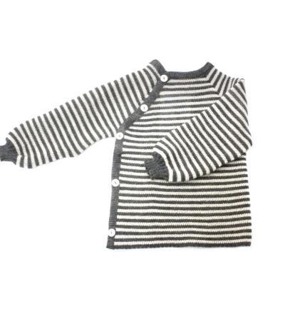 REIFF STRICK / Baby Pullover Schlüttli fels/natur 74-92 Merino-Schurwolle kbT