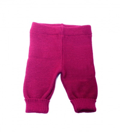 REIFF STRICK / Baby Leggings Hose beere 74-92 Merino-Schurwolle kbT - Made in Germany