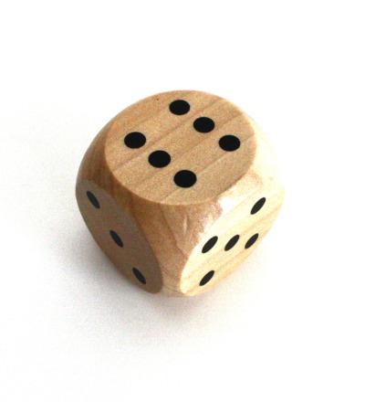Holzwürfel mit Augenzahl Spielewürfel Augenwürfel Würfel 40 mm natur aus Holz