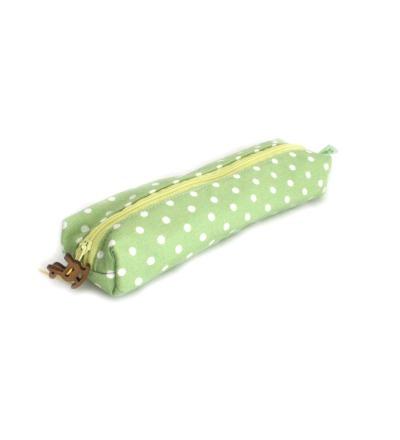 HickUps Stiftemappe Canvas Schmetterlinge grün mit Punkten